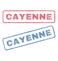 Cayenne textile stamps vector