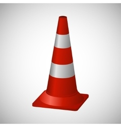 Cone layout road safety vector