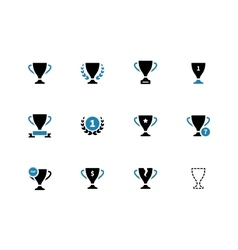 Cup duotone icons on white background vector