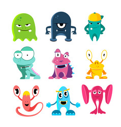cute cartoon monsters of vector image vector image