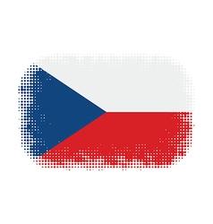 Czech flag halftone vector image vector image