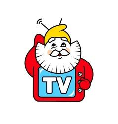 Dwarf tv sign vector