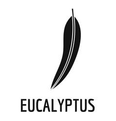 eucalyptus leaf icon simple black style vector image