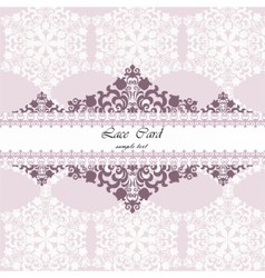 Lace card with ornament pattern vector