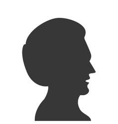 man head profile silhouette icon vector image