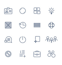 outline icons for web and mobile vector image vector image