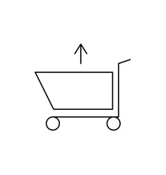 Shopping caddie out vector