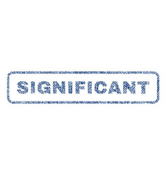 Significant textile stamp vector