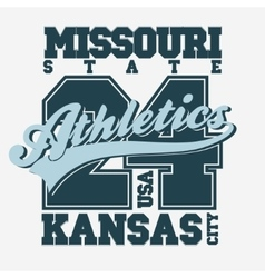 Sport t-shirt design kansas city vector
