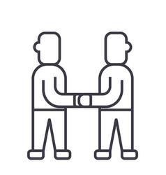 treatyarrangement line icon sign vector image vector image