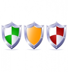 triple protection vector image vector image