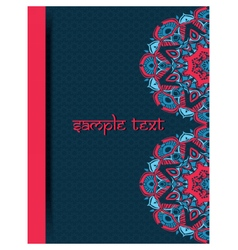 Vintage card with lace indian ornaments vector