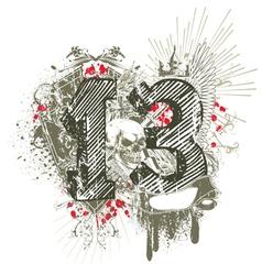 vintage grunge t-shirt design vector image vector image