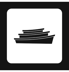 Wooden boats icon simple style vector image vector image