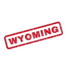 Wyoming rubber stamp vector