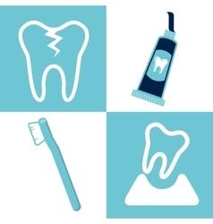Dental healthcare equipment flat icons vector