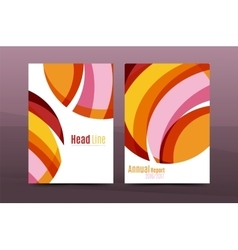 Abstract business annual report brochure cover vector