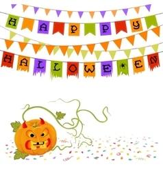 Pumpkin and buntings vector image