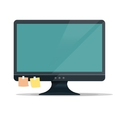 Computer monitor display vector