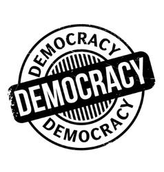 Democracy rubber stamp vector