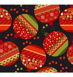 Vivid ornament patchwork xmas bubbles seamless vector