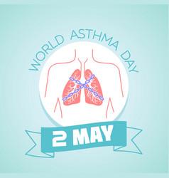 2 may asthma day vector image