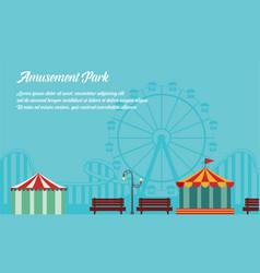 Background style amusement park collection vector