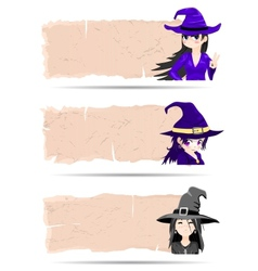 Stickers halloween witch vector