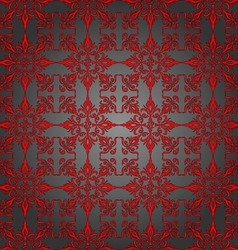 Luxury silver and red wallpaper Seamless Pattern vector image