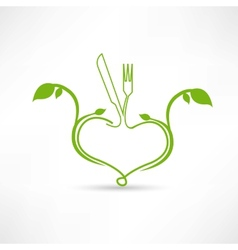 Natural food icon vector