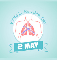 2 may asthma day vector