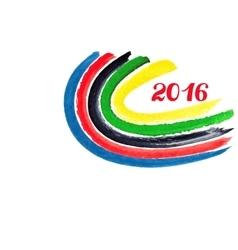 2016 Olympic gamesWatercolor ribbons vector image