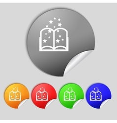 Magic book sign icon open book symbol set of vector