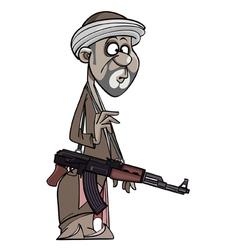 Arab man with a gun vector image