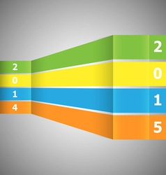 Abstract colorful banner with 2015 vector image