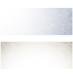 Grey technology banners vector