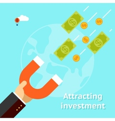 Attracting investments concept vector