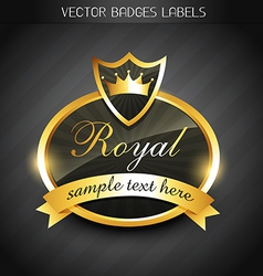 royal label vector image