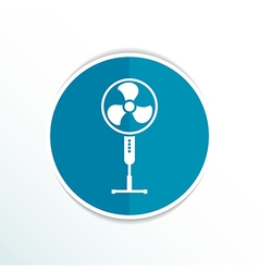 Wind turbine icon sign cooler rotation vector