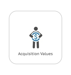 Acquisition values icon business concept flat vector