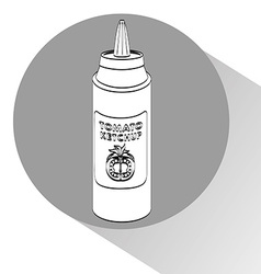 Sauce bottle vector