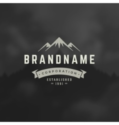 Mountain design element in vintage style vector