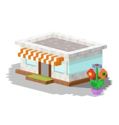 Shop market building vector
