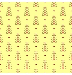 Natural spruce forest seamless pattern vector