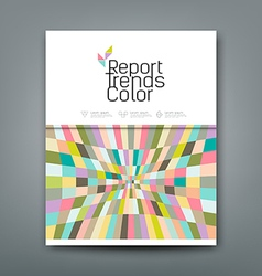 Cover annual report colorful pattern trends vector