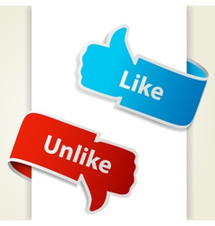 Like and unlike icons vector