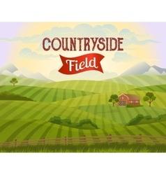 Meadow landscape countryside rural area vector
