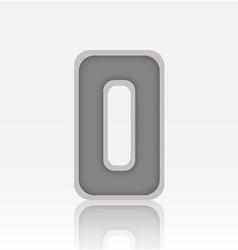 Alphabet O vector image vector image