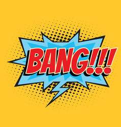 bang comic word vector image vector image