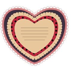 Beautiful card with heart vector image